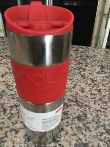 BODUM INSULATED STAINLESS STEEL TRAVEL FRENCH PRESS-NIB