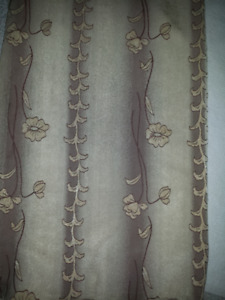 Curtains / Drapes with Rod : Excellent Condition : As Shown