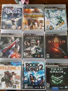 Playstation 3 games $5 & $10