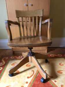 Vintage office chair - all wood