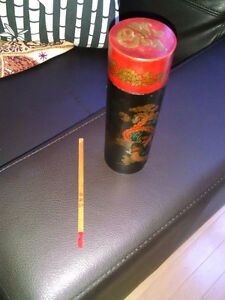 CHINESE DIVINATORY JOY STICKS IN LACQUERED BOX