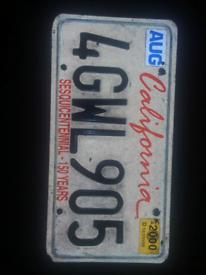 USA Number plate used