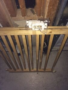 Wooden safety gate excellent condition