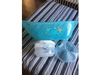 Baby bath bowl and Tommie tippee microwave and cold water steraliser