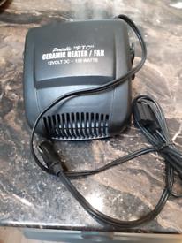 Ceramic heater car fan