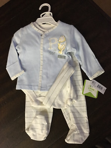 BNWT Winne the Pooh Blue and Cream Outfit $10