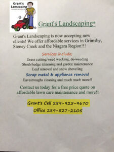 Yard clean-ups/ Lawn quotes- Grant's Landscaping