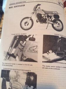 1983 Honda CR60S Shop Manual Regina Regina Area image 3