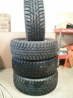 set of 4 studded winter tires 225/60/16 - $425