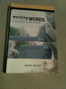 Working Words: A Business-Based Reader London Ontario image 1
