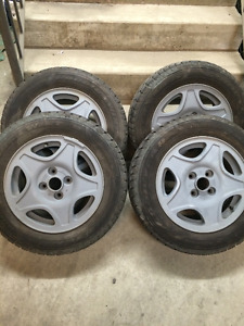 """VW 14"""" rims with winter tires"""