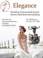 Wedding, bridesmaid and formal dresses alterations
