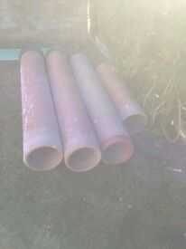 Clay underground drainage pipes