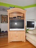 Meuble Tele en bois - All wood TV Cabinet