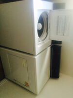 Electric washer dryer set
