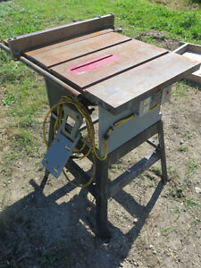 Cast Iron Table Saw with Stand (needs motor then works great)