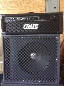 "Crate BX-200 & 15"" Roland  120w Spkr Bass Amp Basse"