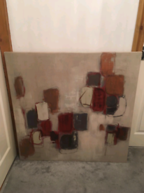 Abstract painting from dunelm