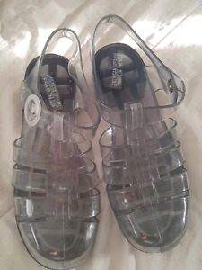 American Apparel Jelly Sandals - Clear