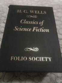 HG Wells folio society books.