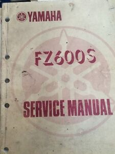 1986 Yamaha FZ600S Service Manual