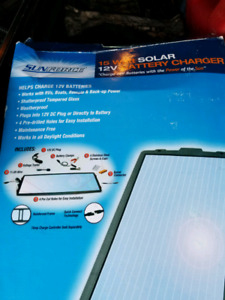 15 watt Solar Panel, 12v battery charger