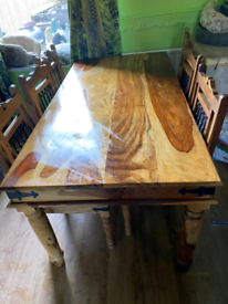 Dining table and 6 chairs. 150.00