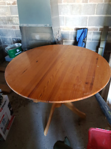 Solid wood table, seats 4