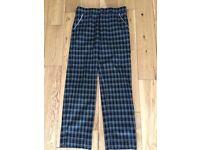 Junior Ping Black / Grey tartan trousers
