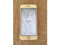iPhone 6s 16gb gold spares or repair