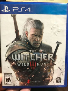 PS4 games- Witcher 3: Wild Hunt - New+unused, w/ Soundtrack disc