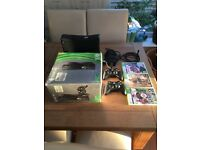 XboxSlim 360 plus games 250GB HARDLY USED