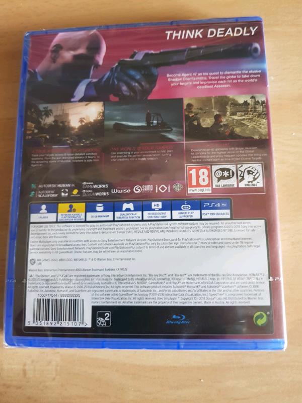 Hitman 2 for PS4, brand new | in Plymouth, Devon | Gumtree