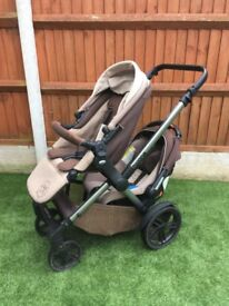 Jane' Twone Double Pushchair Travel System