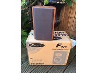 Pair Celestion F10 series bookshelf hi fi speakers