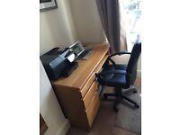 Office Desk & chair.