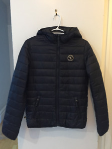 Boy's Abercrombie & Fitch Navy Blue Puffer Coat size L (14)