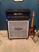 Hughes and kettner switchblade amp head with behringer cab