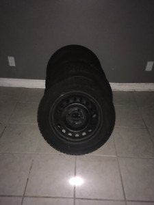 195/55R15 Snow Tires & Rims - Used one winter