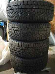 New continental studless winter tires with rims 205/55/r16