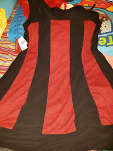 Brand new size 16 red black dress for  $20.