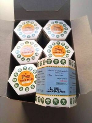 BEST TIGER BALM WHITE 12 pcs x  21 ml muscle aches pain relief ointment massage
