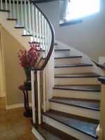 Hardwood floor installation, stairs and floor refinishing
