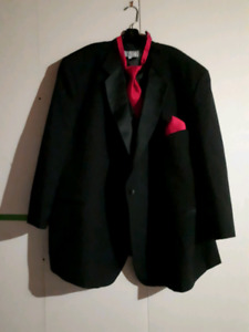 After Six Three Piece Tuxedo Suit With Suspenders Size 4XF