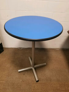 "Round 40"" Tall Blue Bar Pub Dining Table 30.5"" wide"