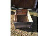 Pallet boxes garden beds