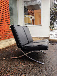 Fauteuil Mid Century Modern Mies Van Der Rohe Barcelona Chair