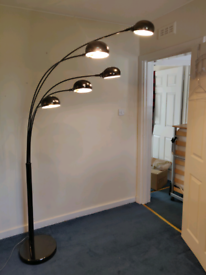 5-light floor lamp - black