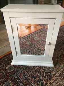 Medicine cabinet - wood surface medicine cabinet white