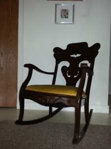 Aunthentic Vintage Rocking Chair, A+ Ultra Clean CUSHION $20.00